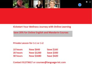 100% Online Learning Promotion @ School of Language Int