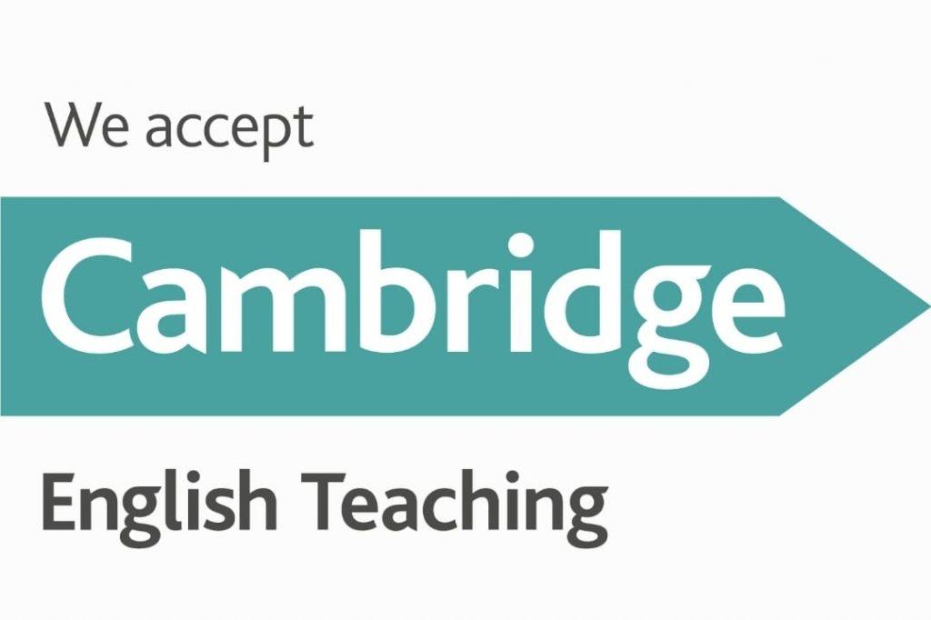 We accept Cambridge English Teaching